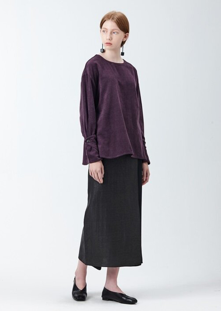 아유 AYU DOUBLE FACED BLOUSE (PURPLE)